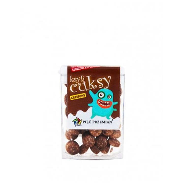 Cuksy z karobem i ksylitolem (małe drażetki)